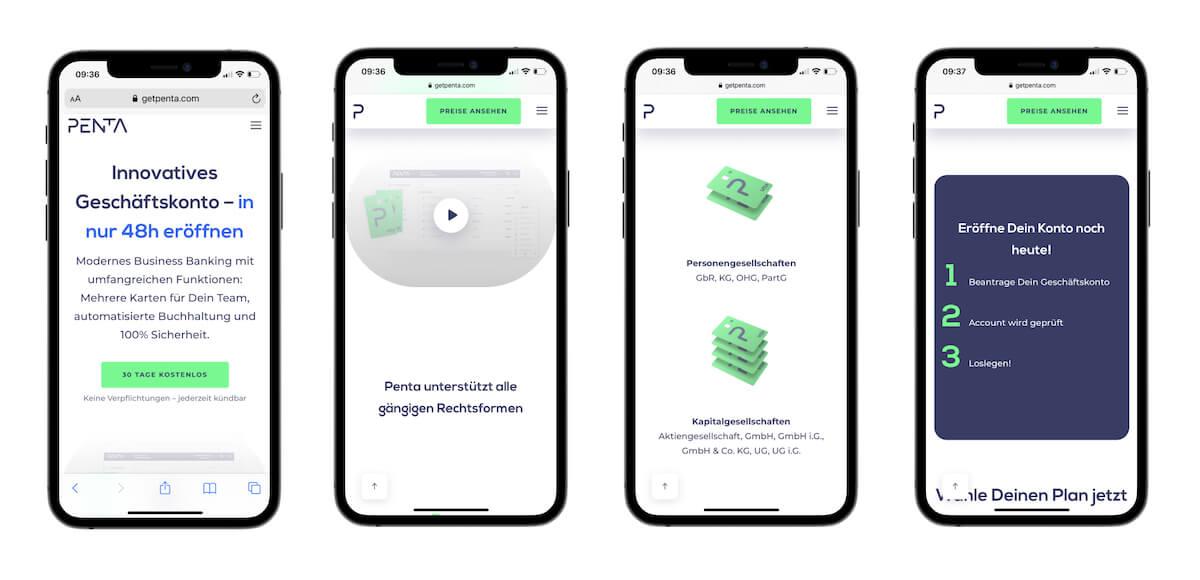 modernes webdesign 2021: minimalismus